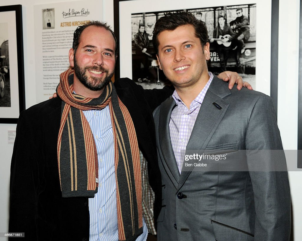 CEO of Rock Paper Photo Mark Halpern (L) and Vlad Ginsberg attend The Beatles 50 Year Commemorative Anniversary photo exhibit at Rock Paper Photo NYC Pop Up Gallery on February 4, 2014 in New York City.