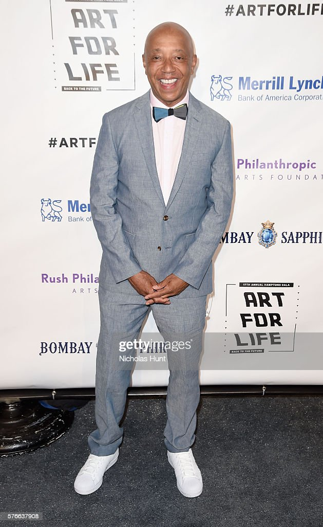 CEO of Rush Communications Russell Simmons attends Rush Philanthropic Arts Foundation's 2016 ART FOR LIFE Benefit at Fairview Farms on July 16, 2016 in Bridgehampton, New York.