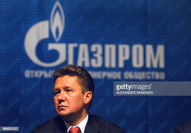 CEO of Russian gas giant Gazprom Alexei Miller attends the Gazprom annual meeting in Moscow on June 26 2009 Russian President Dmitry Medvedev said...