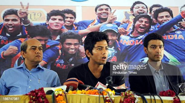 'NOIDA INDIA AUGUST 31 RWA of sector 40 felicitate Under19 cricket World Cup winning captain Unmukt Chand at sector 40 community hall on August 31...