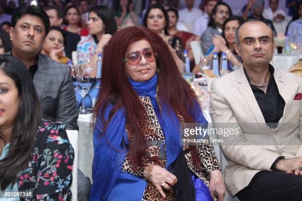 CEO of Shahnaz Herbals Inc Shahnaz Husain during the Hindustan Times Game Changer Awards 2017 at Hotel Oberoi on May 24 2017 in Gurgaon India