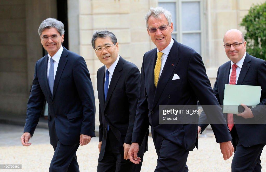 R CEO of Siemens AG Joe Kaeser CEO of Mitsubishi Heavy Industries Shunichi Miyanaga Chairman of the Supervisory Board of Siemens AG Gerhard Cromme...