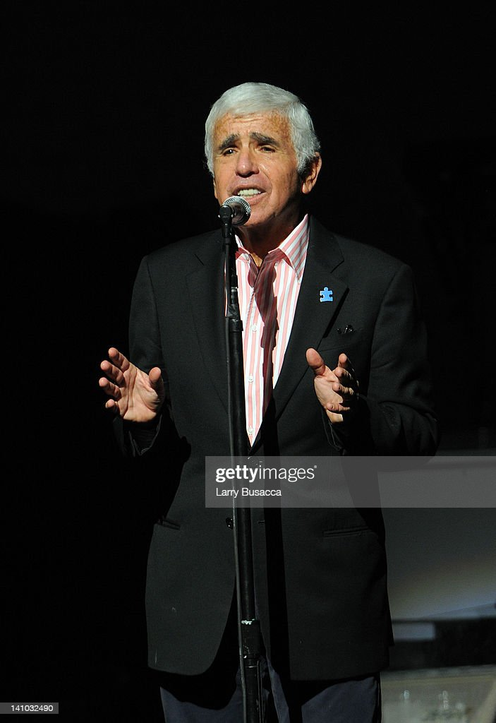 CEO of Sirius XM Radio Mel Karmazin introduces Bruce Springsteen during SiriusXM's concert celebrating 10 years of satellite radio at The Apollo...