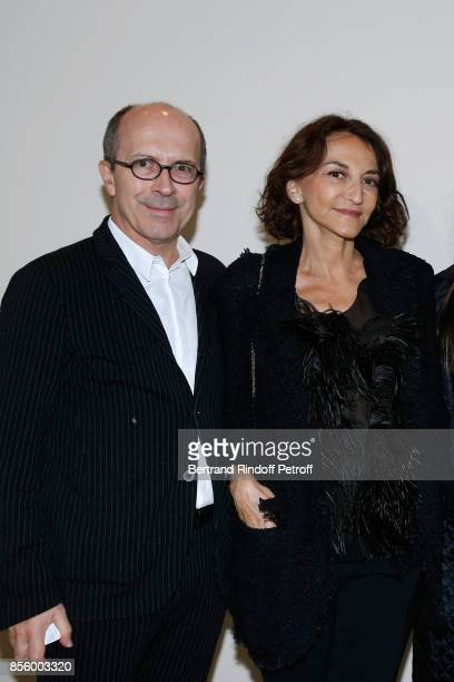 CEO of Sonia Rykiel JeanMarc Loubier and Nathalie Rykiel attend the Sonia Rykiel show as part of the Paris Fashion Week Womenswear Spring/Summer 2018...