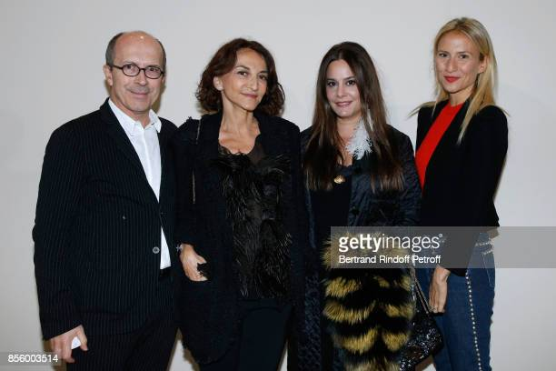 CEO of Sonia Rykiel JeanMarc Loubier Nathalie Rykiel Hedieh Loubier and Lola BursteinRykiel attend the Sonia Rykiel show as part of the Paris Fashion...