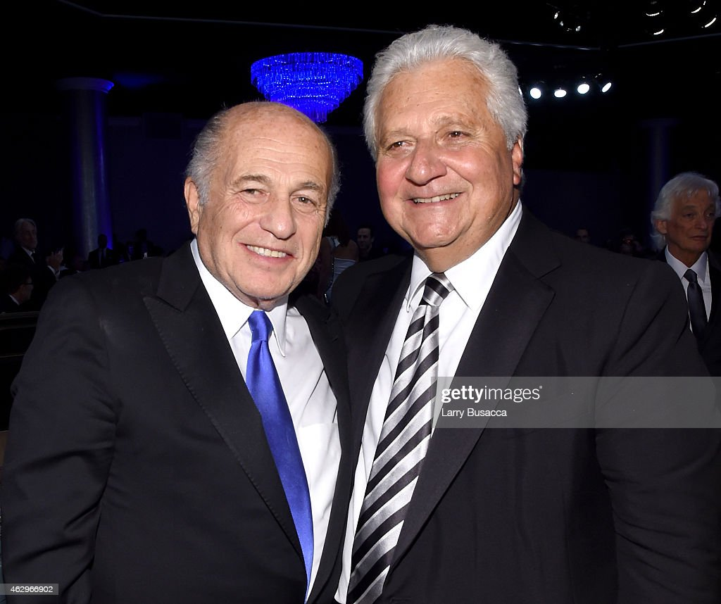 CEO of Sony Music Entertainment Doug Morris (L) and CEO of Sony/ATV Martin Bandier attend the Pre-GRAMMY Gala and Salute To Industry Icons honoring Martin Bandier at The Beverly Hilton Hotel on February 7, 2015 in Beverly Hills, California.