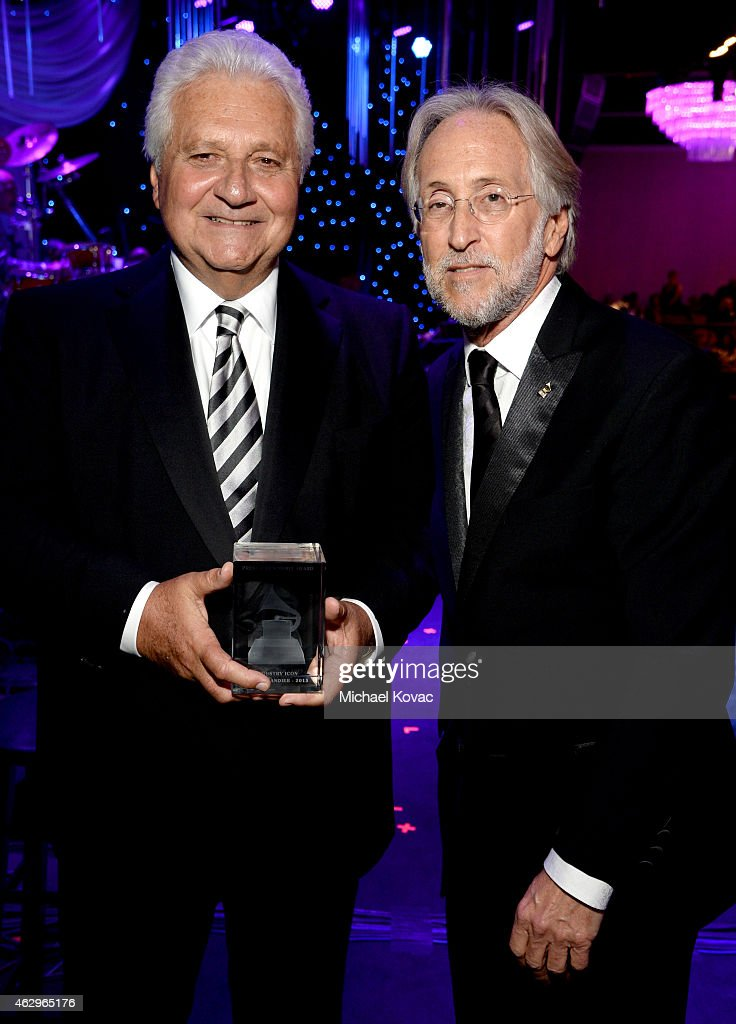 CEO of Sony/ATV Martin Bandier (L) and President of the National Academy of Recording Arts and Sciences, Neil Portnow attend the Pre-GRAMMY Gala and Salute To Industry Icons honoring Martin Bandier at The Beverly Hilton Hotel on February 7, 2015 in Beverly Hills, California.