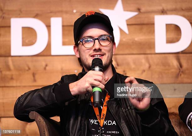 CEO of soundcloud Alexander Ljung speaks during the Digital Life Design conference at HVB Forum on January 23 2012 in Munich Germany DLD is a global...