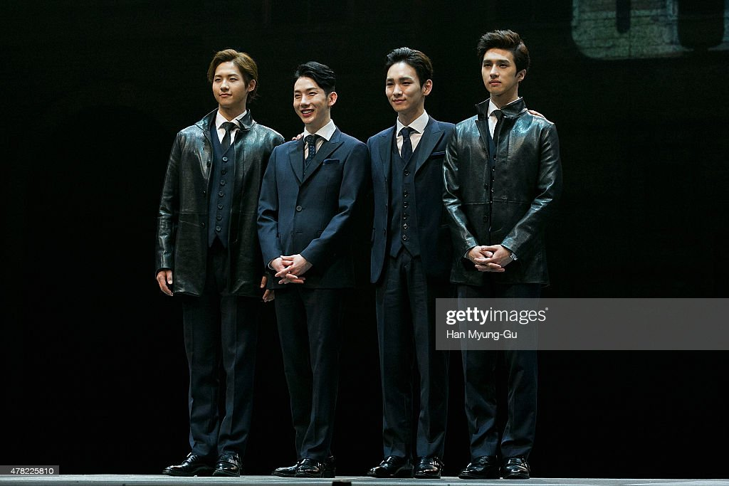 CNU of South Korean boy band B1A4 Jo Kwon of South Korean boy band 2AM Key of South Korean boy band SHINee and Ken of South Korean boy band VIXX...