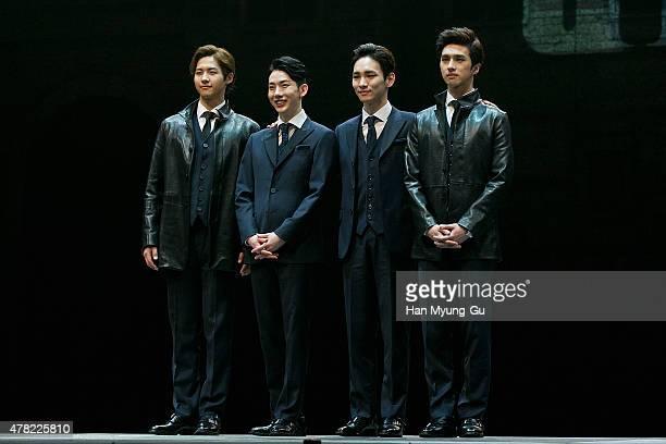 CNU of South Korean boy band B1A4 Jo Kwon of South Korean boy band 2AM Key of South Korean boy band SHINee and Ken of South Korean boy band VIXX...