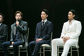 CNU of South Korean boy band B1A4 Jo Kwon of South Korean boy band 2AM and Shin SungWoo attend the press call Musical 'CHESS' on June 23 2015 in...