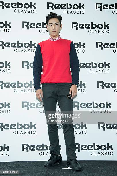 of South Korean boy band Bigbang attends the Reebok Classic 'EXOFit' Special Showcase on August 19 2014 in Seoul South Korea
