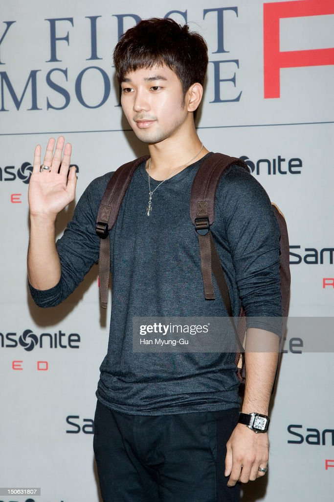 G.O of South Korean boy band MBLAQ attends during the 'Samsonite Red' 2012 F/W Pop Up Art Exhibition on August 23, 2012 in Seoul, South Korea.
