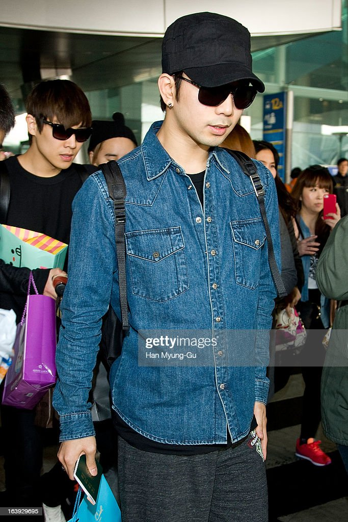 G.O of South Korean boy MBLAQ is seen upon arrival at Incheon International Airport on March 17, 2013 in Incheon, South Korea.