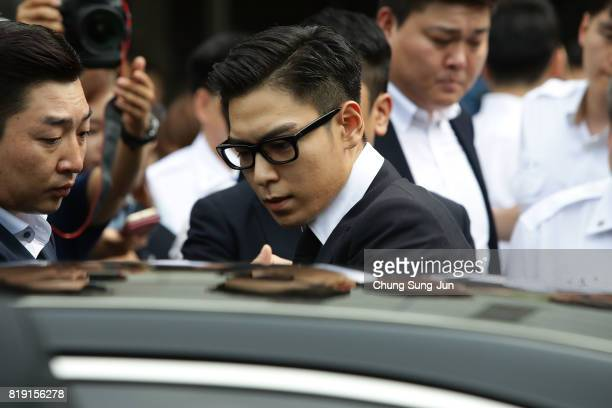 P of South Korean boyband Big Bang leaves after attending a verdict hearing at the Seoul Central District Court on his marijuana usage case on July...