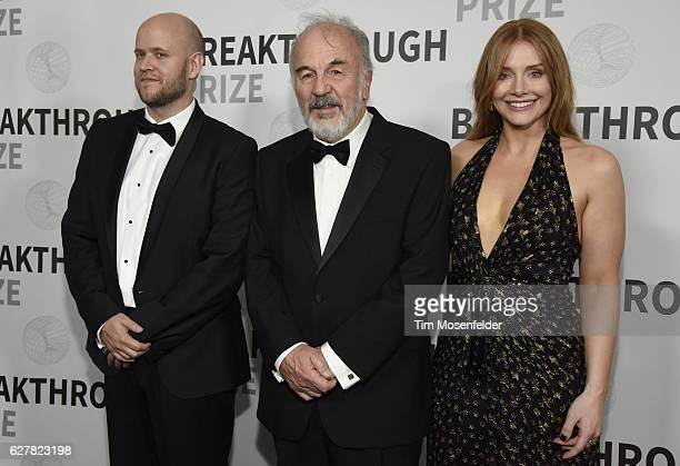 CEO of Spotify Daniel Ek 2017 Breakthrough Prize winner Harry Noller and actress Bryce Dallas Howard attend the 5th Annual Breakthrough Prize...