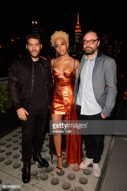 CEO of Surface Magazine Marc Lotenberg Solange Knowles and Travel Editor at Surface Magazine Nate Storey attend The 2017 Surface Travel Awards at...