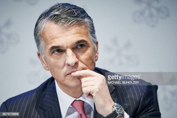 CEO of Swiss banking giant UBS Sergio Ermotti attends the presentation of UBS's fourth quarter 2015 results in Zurich on February 2 2016 / AFP /...