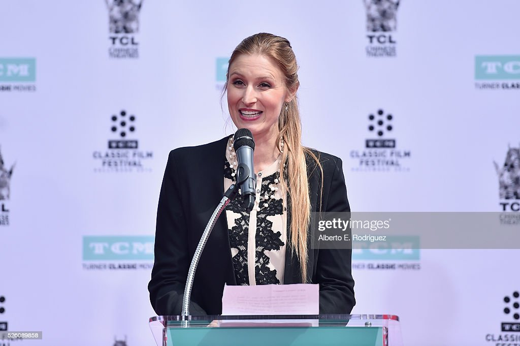 CEO of TCL Chinese Theatres Alwyn Hight Kushner speaks onstage during the Francis Ford Coppola Hand and Footprint Ceremony during the TCM Classic Film Festival 2016 on April 29, 2016 in Los Angeles, California. 25826_006