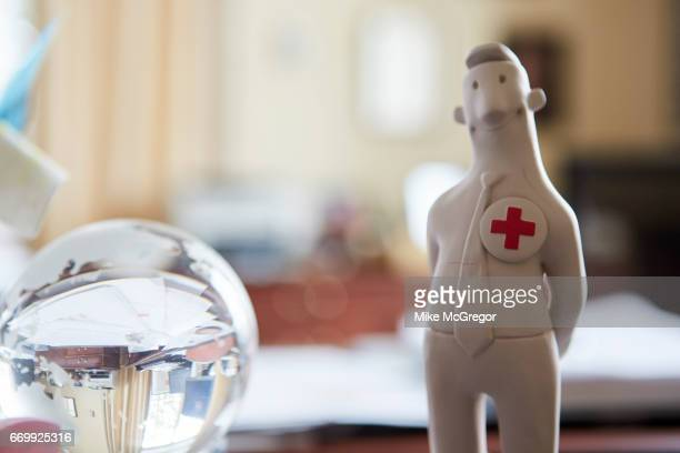 CEO of the American Red Cross Gail McGovern's office is photographed for Delta Sky Magazine on January 27 2017 in Washington DC ON EMBARGO UNTIL MAY...