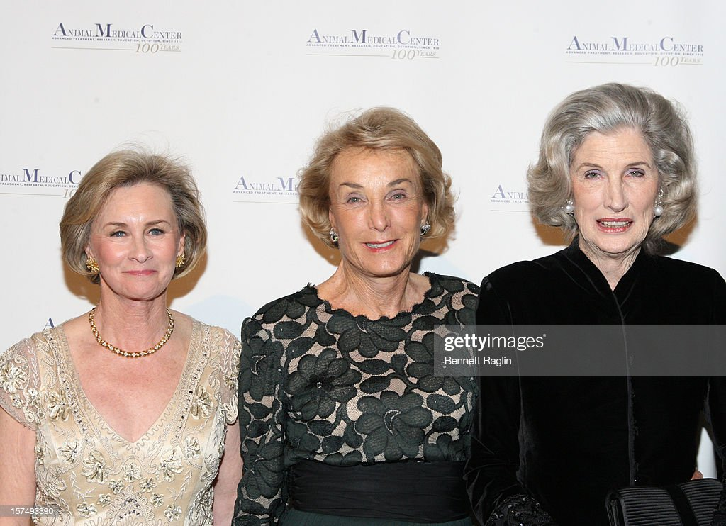CEO of the Animal Medical Center Kathryn Coyne, Elaine Langone, and <a gi-track='captionPersonalityLinkClicked' href=/galleries/search?phrase=Nancy+Kissinger&family=editorial&specificpeople=1104704 ng-click='$event.stopPropagation()'>Nancy Kissinger</a> attend The Animal Medical Center's TOP DOG Gala at Cipriani 42nd Street on December 3, 2012 in New York City.