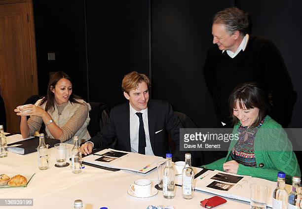 CEO of the British Fashion Council Caroline Rush actor Dan Stevens Director of the London Designer Festival Ben Evans and Artistic Director of The...