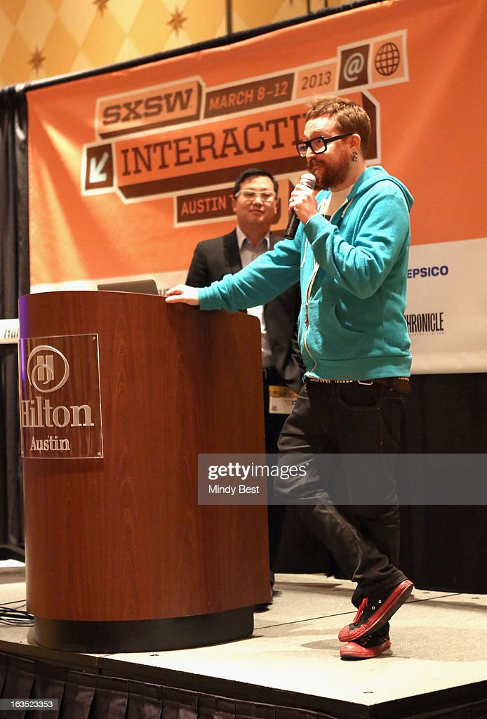 CEO of The Cheezburger Network Ben Huh and entrepreneur Harper Reed speak onstage at The Art of Making Fun of Yourself during the 2013 SXSW Music, Film + Interactive Festival at Hilton Austin on March 11, 2013 in Austin, Texas.
