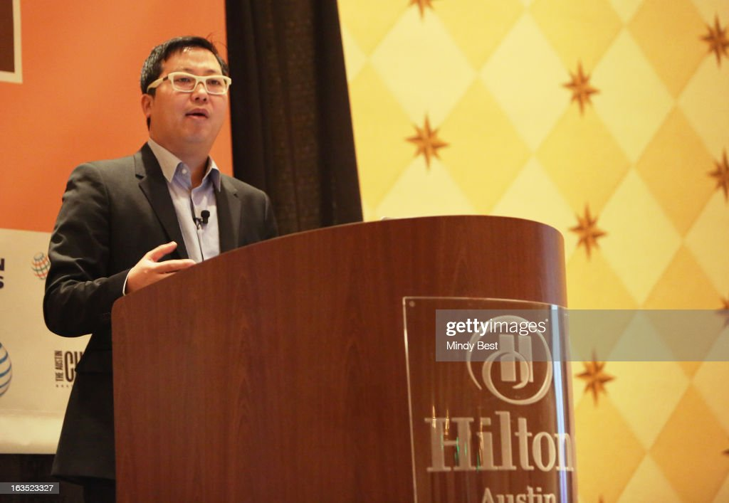 CEO of The Cheezburger Network Ben Huh speaks onstage at The Art of Making Fun of Yourself during the 2013 SXSW Music, Film + Interactive Festival at Hilton Austin on March 11, 2013 in Austin, Texas.