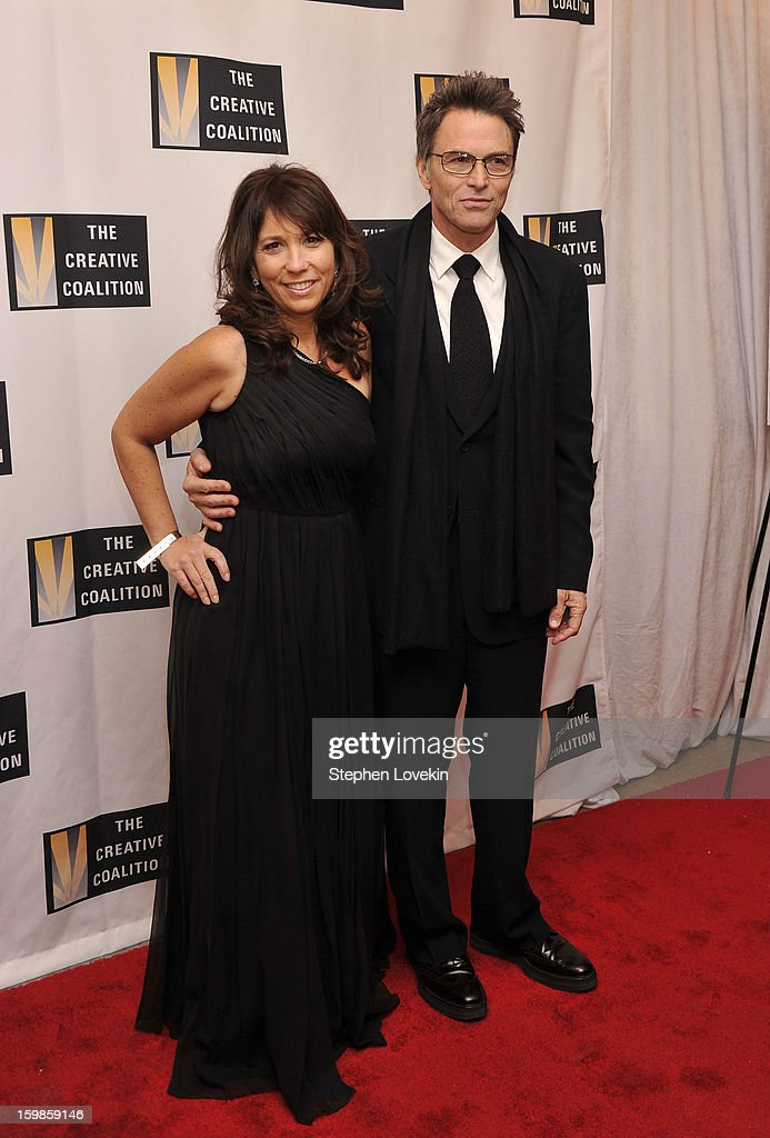 CEO of The Creative Coalition Robin Bronk and actor Tim Daly attend The Creative Coalition's 2013 Inaugural Ball at the Harman Center for the Arts on January 21, 2013 in Washington, United States.