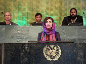 CEO of the Digital Citizen Fund Roya Mahboob speaks at the Novus Summit at the United Nations on July 17 2016 in New York City