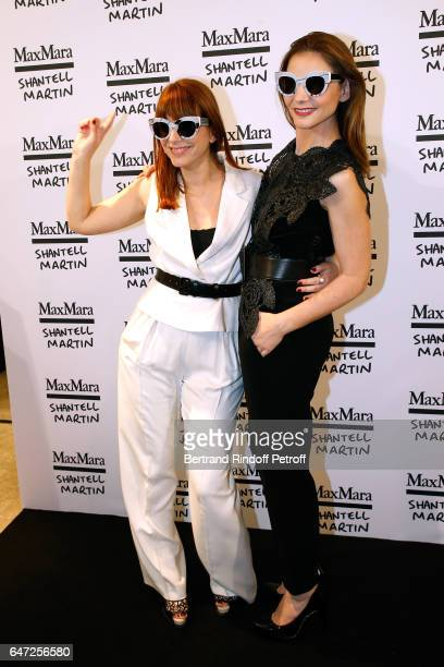 DJ of the event Cecile Togni and Princess of Savoy Clotilde Courau attend the Max Mara 'Prism in Motion' Eventas with the presentation of the new...
