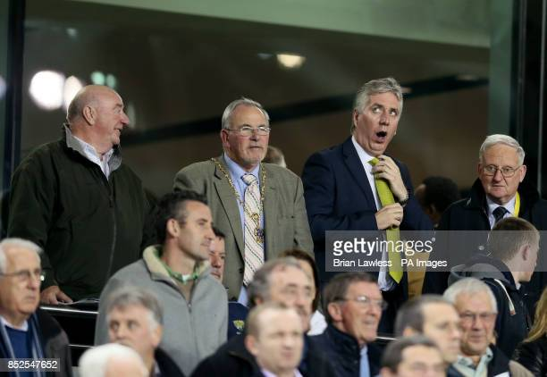 CEO of the FAI John Delaney yawns ahead of the FIFA 2014 World Cup Qualifying Group C match at the Aviva Stadium Dublin