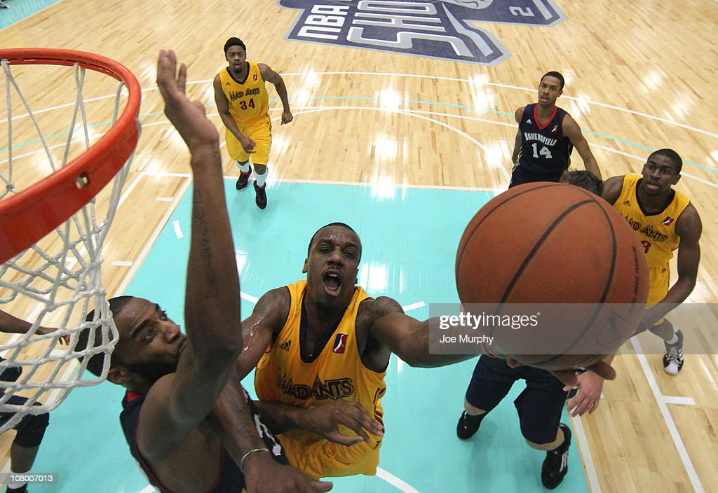 of the Fort Wayne Mad Ants shoots the ball against the Bakersfield Jam during the 2011 NBA D-League Showcase on January 12, 2011 at the South Padre Island Convention Center in South Padre Island, Texas.