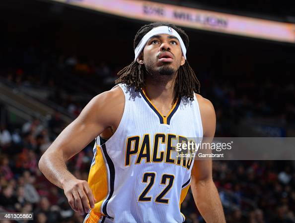of the Indiana Pacers against the Philadelphia 76ers at Wells Fargo Center on January 10 2015 in Philadelphia Pennsylvania NOTE TO USER User...