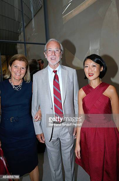 CEO of the 'Jerome Seydoux Pathe Foundation' Sophie Seydoux Architect of the Foundation Renzo Piano and French minister of Culture and Communication...