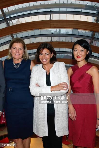 CEO of the 'Jerome Seydoux Pathe Foundation' Sophie Seydoux Mayor of Paris Anne Hidalgo and French minister of Culture and Communication Fleur...