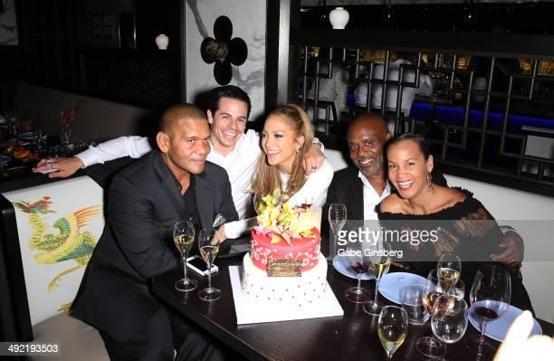 CEO of the Medina Company Benny Medina choreographer Beau 'Casper' Smart singer Jennifer Lopez Chairman and CEO of Epic Records LA Reid and his wife...