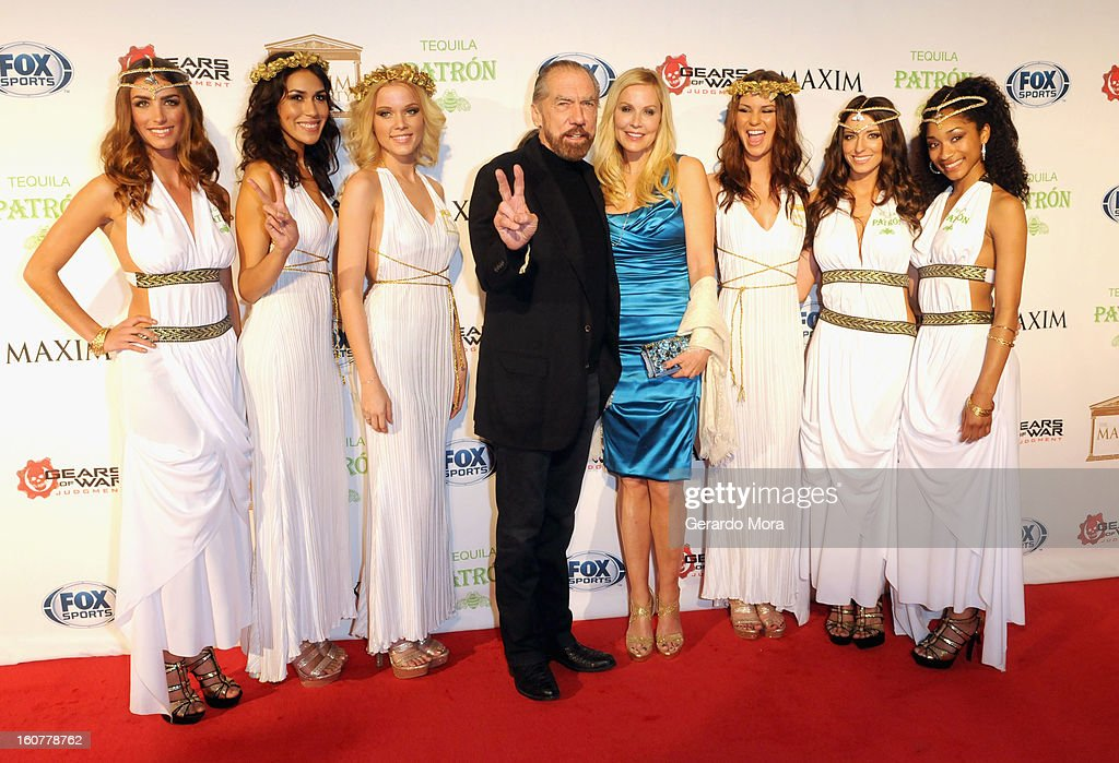 CEO of The Patron Spirit John Paul DeJoria and Eloise Broady attend The Maxim Party With 'Gears of War: Judgment' For XBOX 360, FOX Sports & Starter Presented by Patron Tequila at Second Line Warehouse on February 1, 2013 in New Orleans, Louisiana.