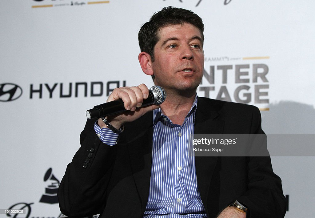 CMO of the Recording Academy Evan Greene during a special announcement by Linkin Park's Mike Shinoda at the Start Up Village/Social Media Summit at The Conga Room at LA Live on February 8, 2013 in Los Angeles, California.