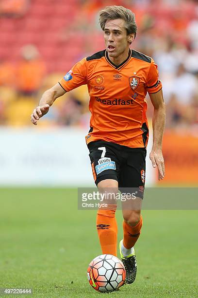 CORONA of the Roar with the ball during the round six ALeague match between Brisbane Roar and Perth Glory at Suncorp Stadium on November 15 2015 in...