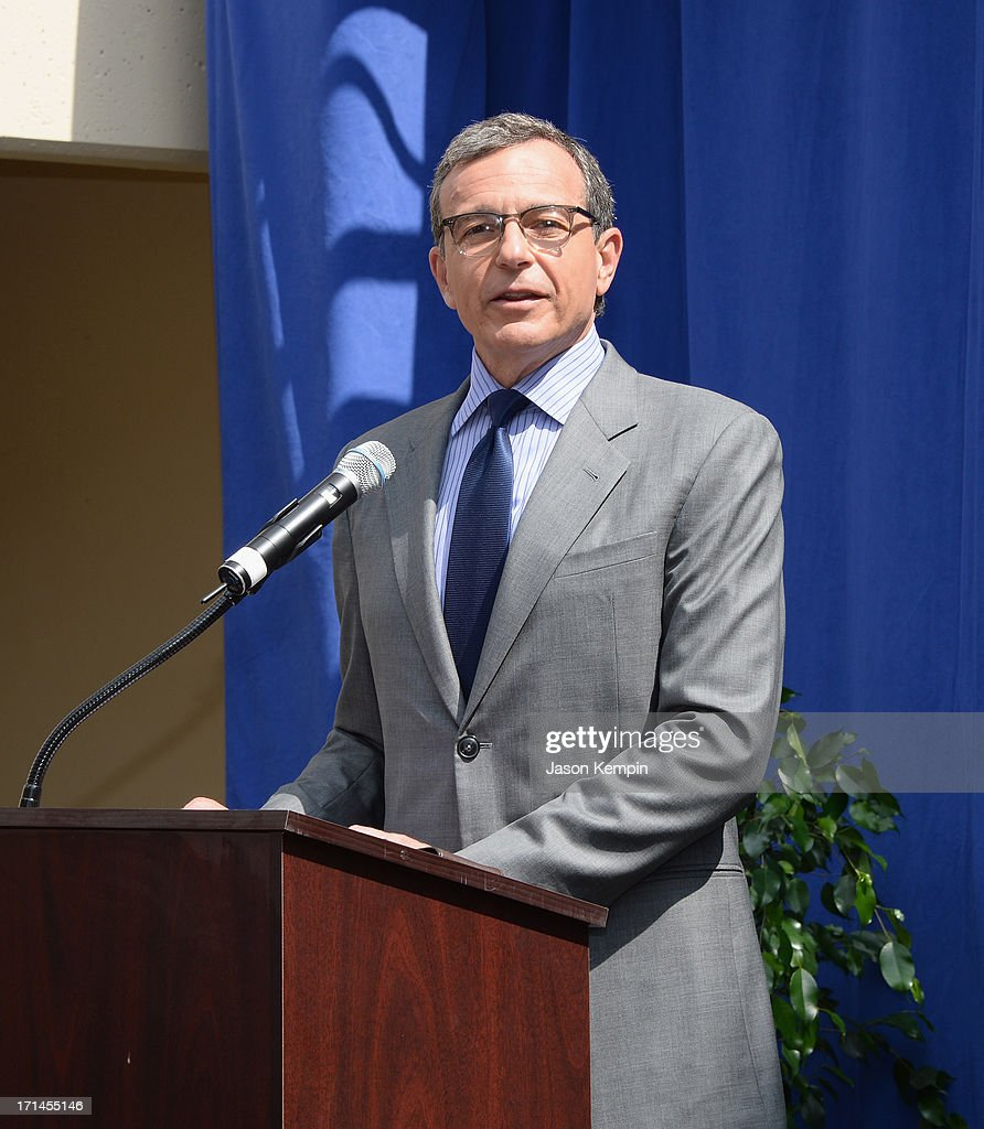 CEO of The Walt Disney Company <a gi-track='captionPersonalityLinkClicked' href=/galleries/search?phrase=Bob+Iger&family=editorial&specificpeople=171211 ng-click='$event.stopPropagation()'>Bob Iger</a> attends a special stage rededication ceremony for Annette Funicello hosted by The Walt Disney Company at Walt Disney Studios on June 24, 2013 in Burbank, California.
