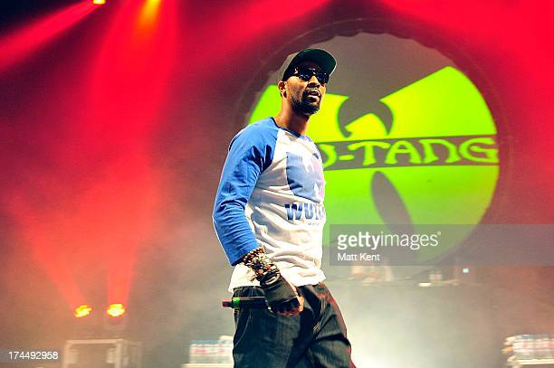 RZA of the Wu Tang Clan performs on stage at the 02 Academy Brixton on July 26 2013 in London England