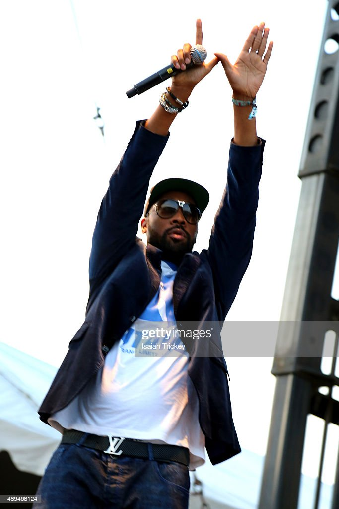 RZA of The WuTang Clan backstage after their Riot Fest 2015 concert at Downsview Park on September 20 2015 in Toronto Canada
