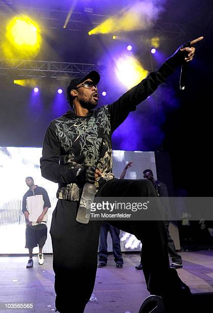 RZA of the WuTang Clan performs as part of Rock the Bells 2010 at Shoreline Amphitheatre on August 22 2010 in Mountain View California