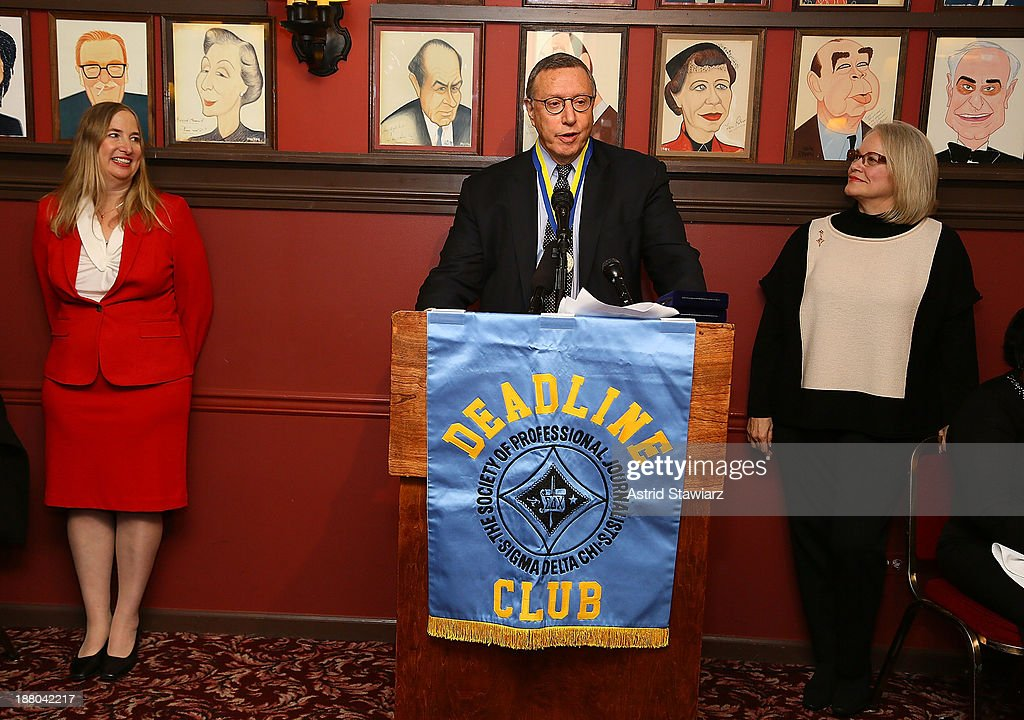 CCO of Time Inc., Norman Pearlstine attends The Deadline Club's New York Journalism Hall of Fame 2013 Luncheon at Sardi's on November 14, 2013 in New York City.