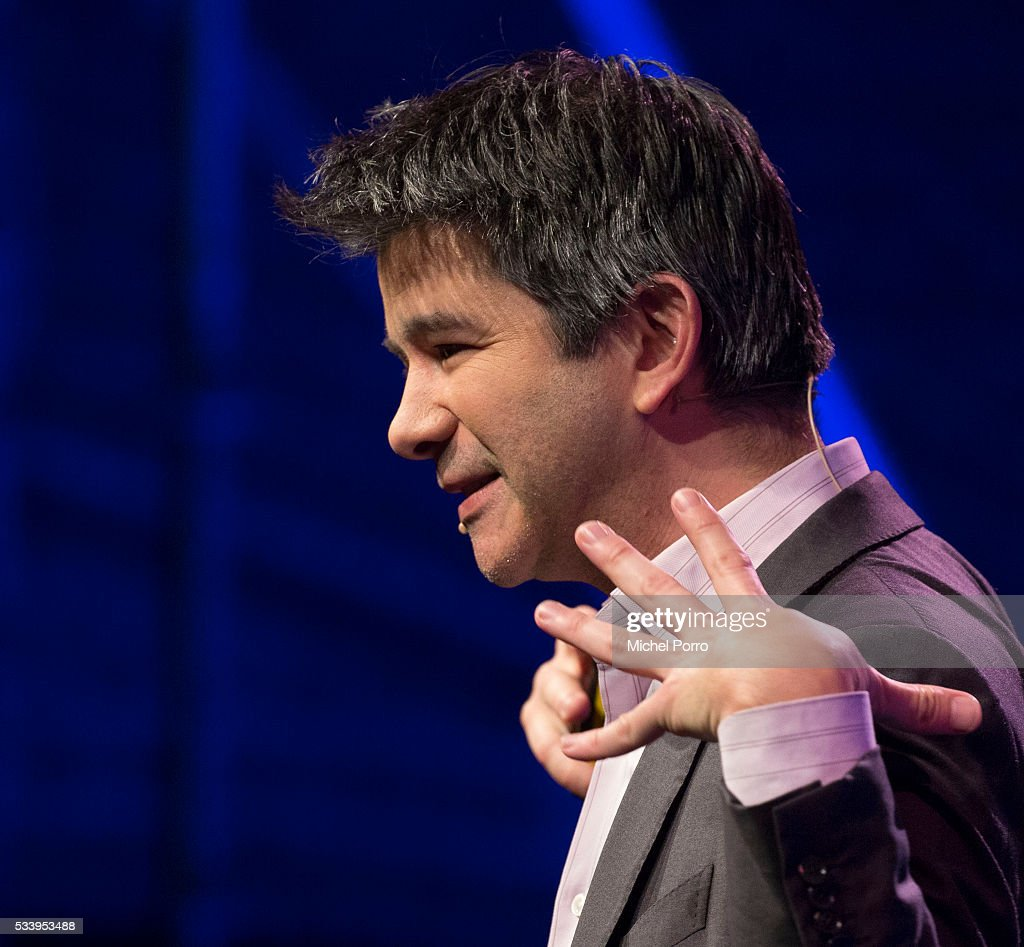 CEO of Uber, <a gi-track='captionPersonalityLinkClicked' href=/galleries/search?phrase=Travis+Kalanick&family=editorial&specificpeople=7808244 ng-click='$event.stopPropagation()'>Travis Kalanick</a>, attends the kick-off of Startup Fest Europe on May 24, 2016 in Amsterdam, The Netherlands. The event facilitates match-making between investors and startup entrepreneurs from all over the world.
