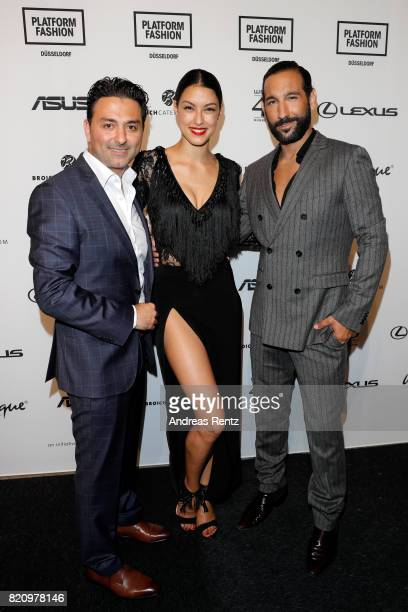 CEO of Unique Shahin Moghadam Rebecca Mir and Massimo Senato attend the Unique after party during Platform Fashion July 2017 at Areal Boehler on July...