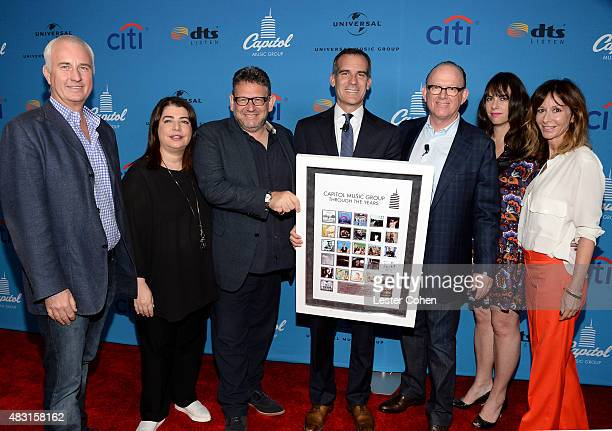 EVP/CFO of Universal Music Group Boyd Muir EVP of US Recorded Music Michelle Anthony chairman and CEO of Universal Music Group Lucian Grainge Los...