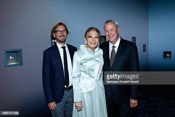 CEO of Van Cleef Arpels Nicolas Bos SAI Farah Pahlavi and Director Robert Wilson attend the Presentation of the new Van Cleef Arpels Collection...