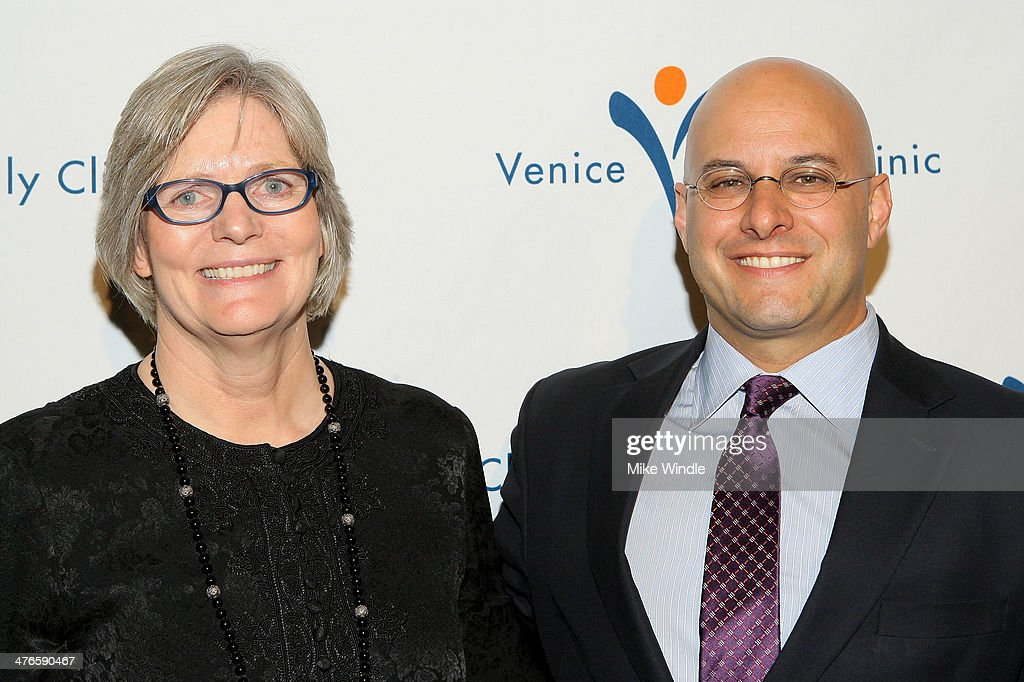 CEO of Venice Family Clinic Elizabeth Benson Forer (L) and Humanitarian Award Winner Chris Silbermann attend the Venice Family Clinic's 32nd Annual Silver Circle Gala held at The Beverly Hilton Hotel on March 3, 2014 in Beverly Hills, California.
